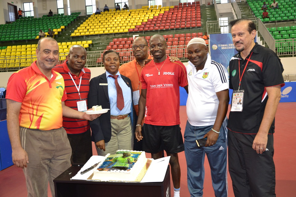 Africa celebrates segun toriola at 41 in brazzaville - African table tennis federation ...